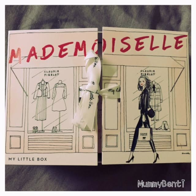Blog mummybenti my little box mademoiselle septembre 2016 claudie pierlot 1