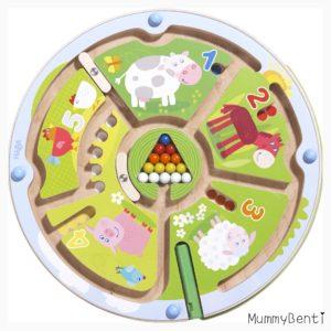 Blog MummyBenti Haba Labyrinthe magnétique animaux Précieuse test jeu Noël 2016 1