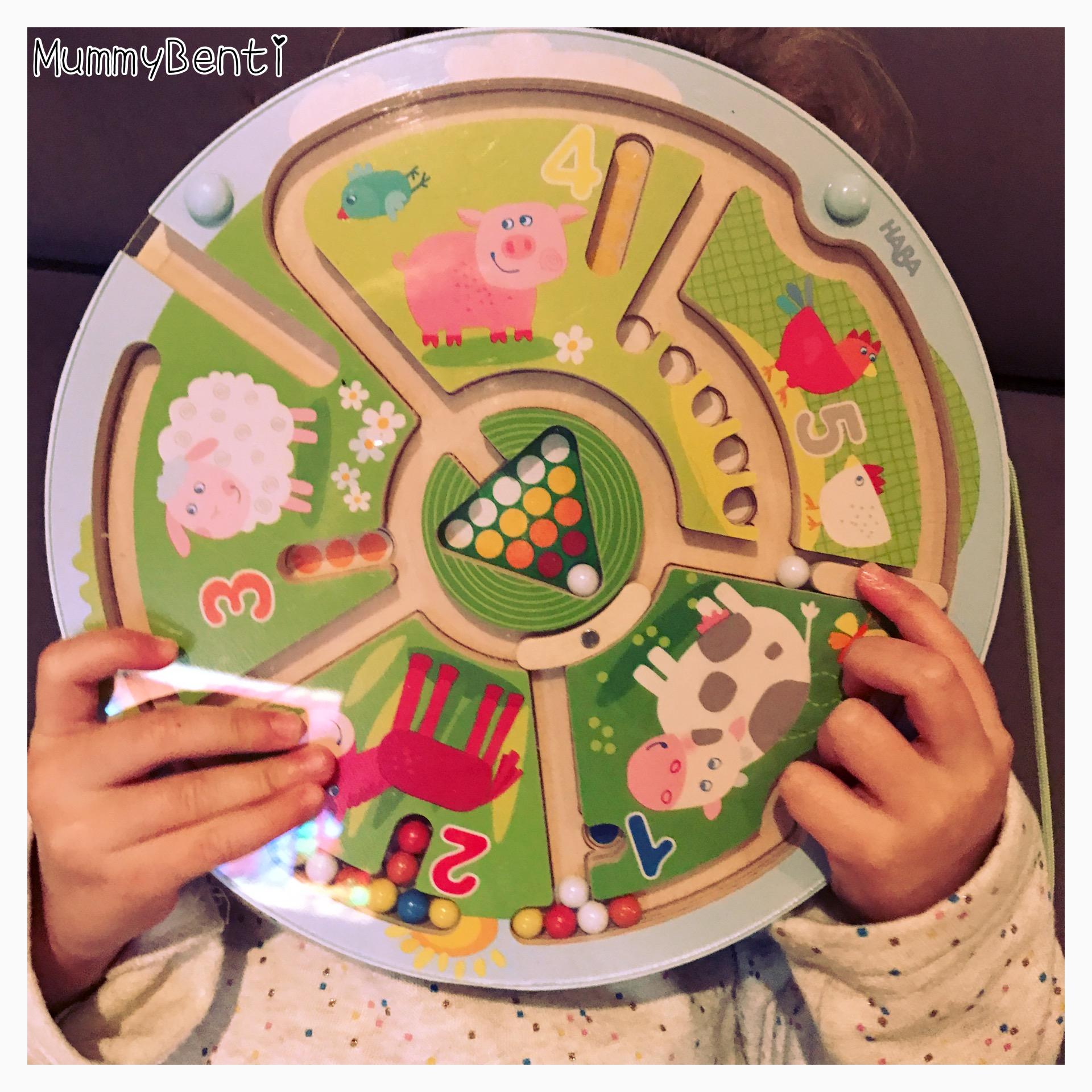 Blog MummyBenti Haba Labyrinthe magnétique animaux Précieuse test jeu Noël 2016