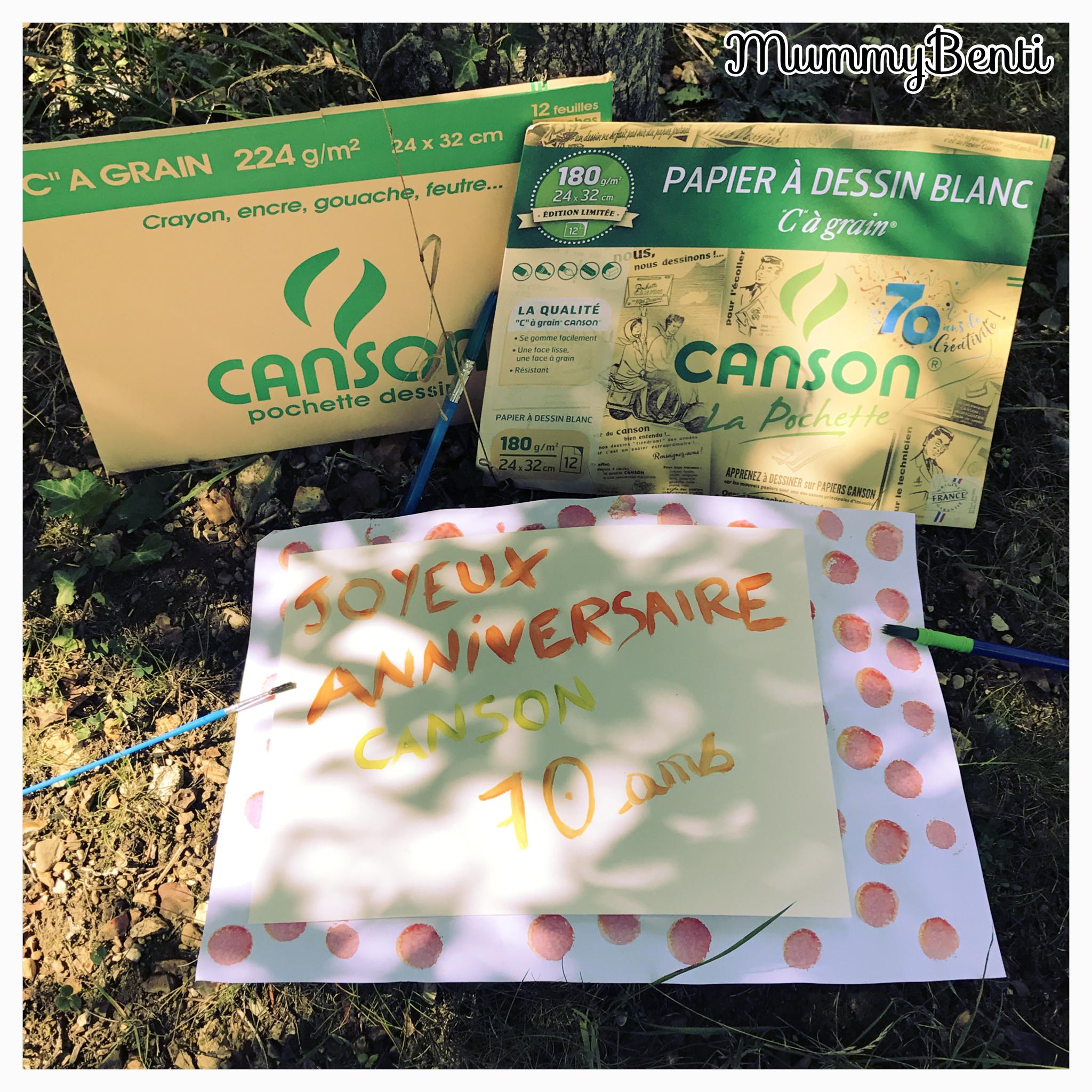 Blog MummyBenti 70 ans pochette Canson art dessin anniversaire